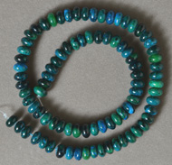 Rondelle beads from blue phoenix stone.