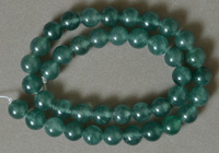 10mm round beads from green jade.