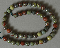 8mm round beads from red and green Indian jasper.