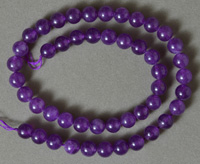 8mm round beads from amethyst.