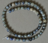 6mm round beads from blue sodalite.
