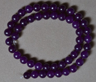 8mm round beads from Russican amethyst.