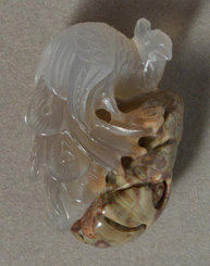 Spiderweb agate bird